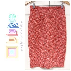 NEW LULAROE PINK AND WHITE QUILTED CASSIE SKIRT